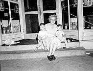 : Mrs. Oscar Bryant - older lady holding two boys