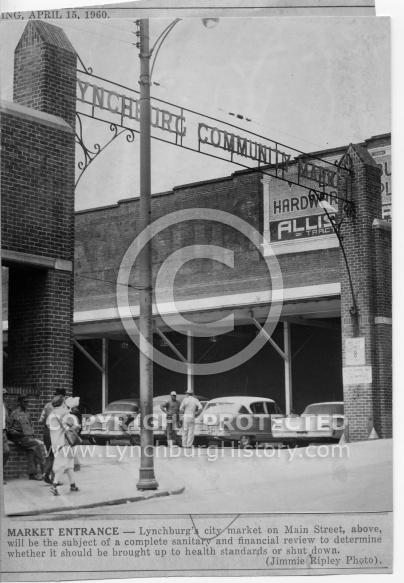 Lynchburg City Market - Entrance 1960