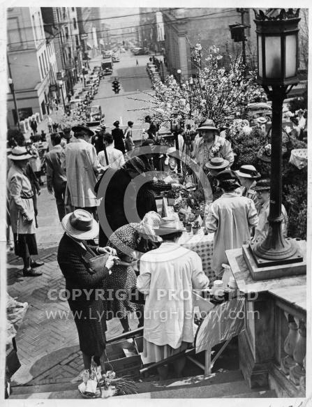Monument Terrace - Flower Mart 1942