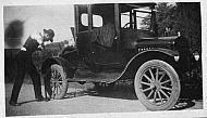 Old Car - Flat Tire