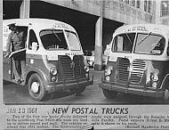 : New postal trucks 1961