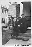 Victor Wood and Adelaide on Porch