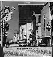 : Christmas lts Main st decorations 1975