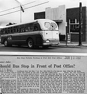 : Bus at Fort Hill PO