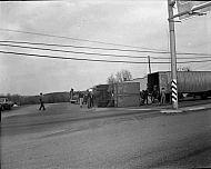 : truck (trailer) turnover, April 3, 1965