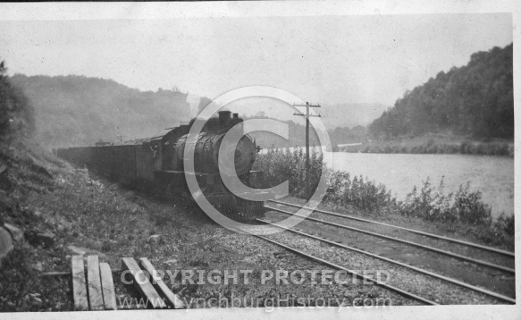 Train Beside River