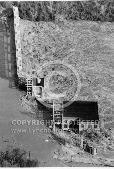 Flood 1985 - Reusens Dam