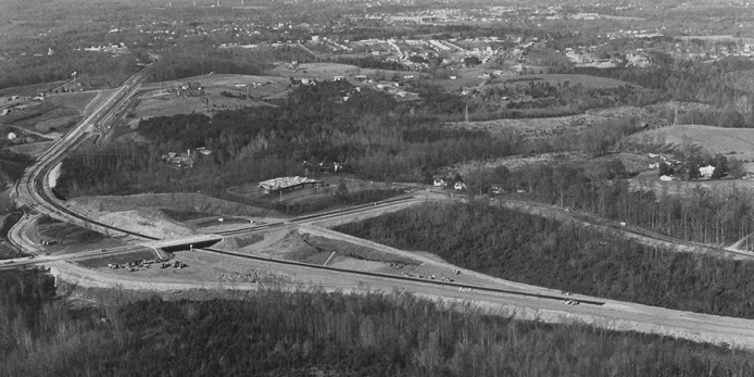 Expressway Construction at Graves Mill Road, 1974