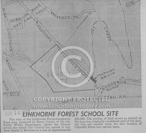 : Linkhorne school site plan