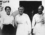 Three Women in Front of Big Tree