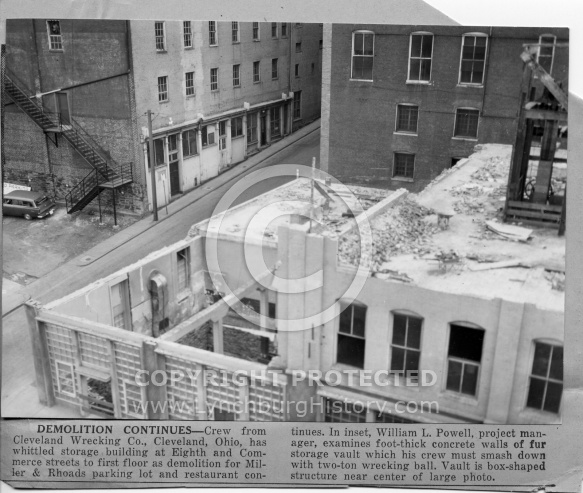 Miller & Rhoads - Demolition 8th and Commerce Streets