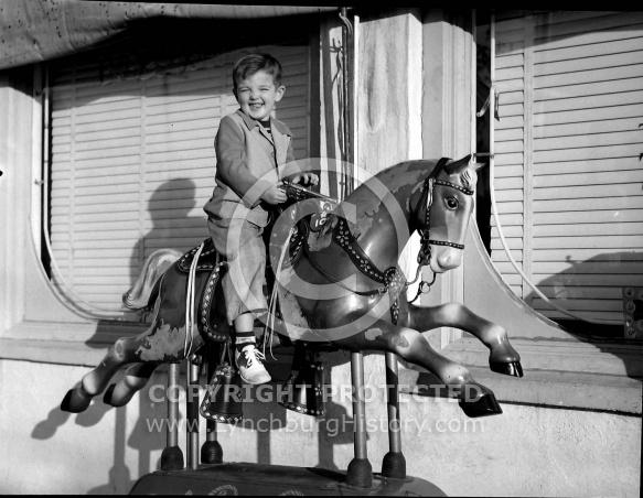 : Marshall Robertson (son on horse)