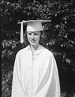 : Faye Gillespie, Cap & Gown, 1951