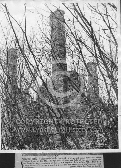 : BW Mt Athos ruins