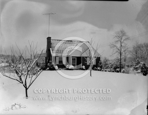 : Corner House from Webster, in Snow