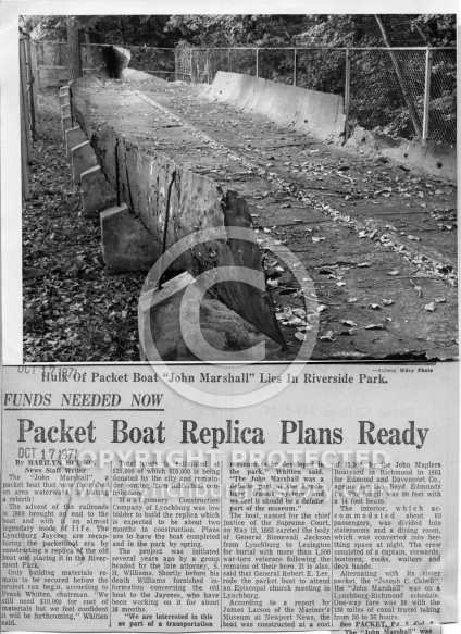Packet Boat John Marshall - Ruins 1971
