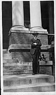Man on Steps in Richmond Virginia