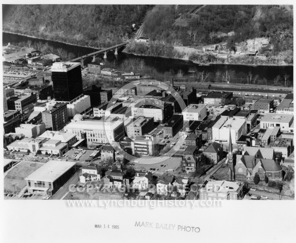 Lynchburg Downtown - Aerial 1985