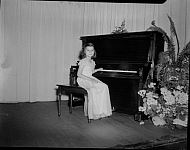: JAMES E. SHANER, GIRLS AT PIANO, MRS. GIBBS MUSICAL, JUNE 12