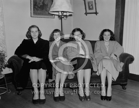 : Jennie Lee Irvin, Mary Lou Scruggs, Zelda Clements, Thelma Hudso