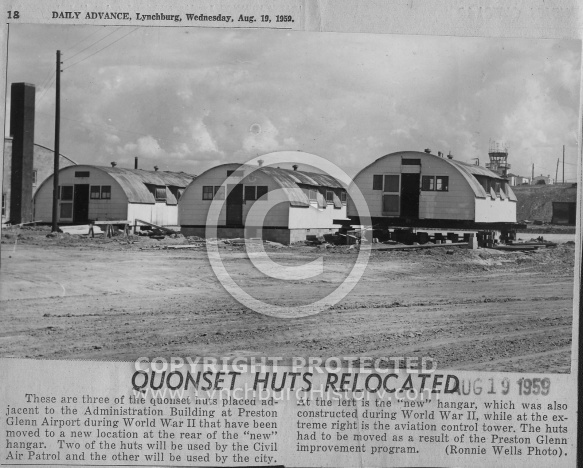 : Quonset huts move 1959